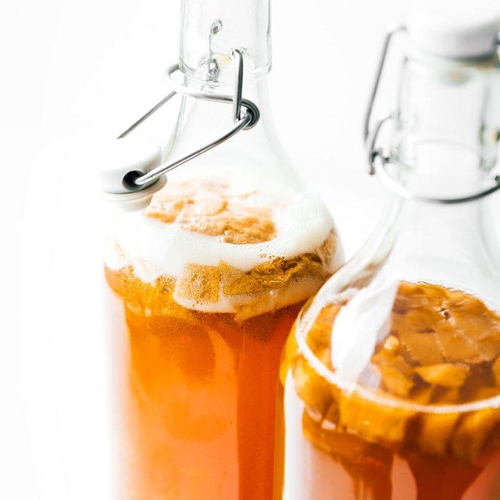 Vanilla Peach Kombucha